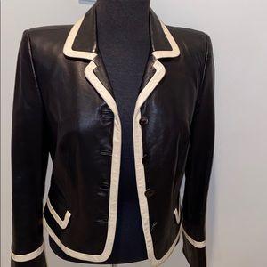 Salvatore Ferragamo Cropped Leather Jacket